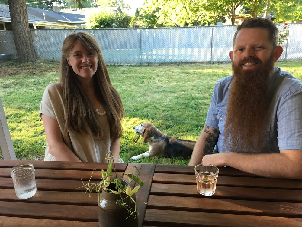 Susanna and Neil from  Antler Galler  y  and their pet buddy Duncan.  Thank you for your hospitality.