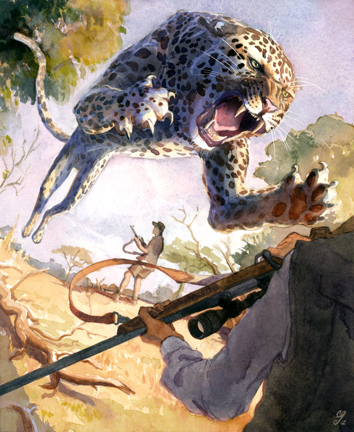 Free Wallpapers: Animal - Leopard Attack