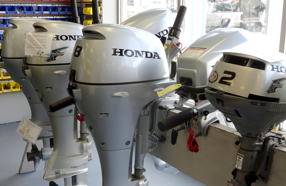 Honda portable outboard engines