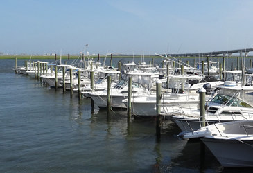 Full service marina with deep water slips