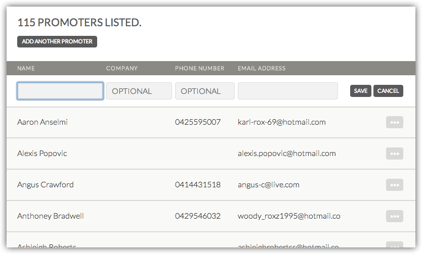 Create A Promoter Account