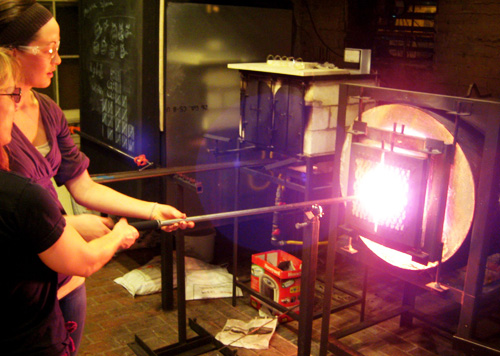 Glassblowing at Hudson Beach Glass.