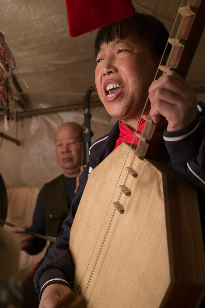 Zhang Xiangling playing the yueqing