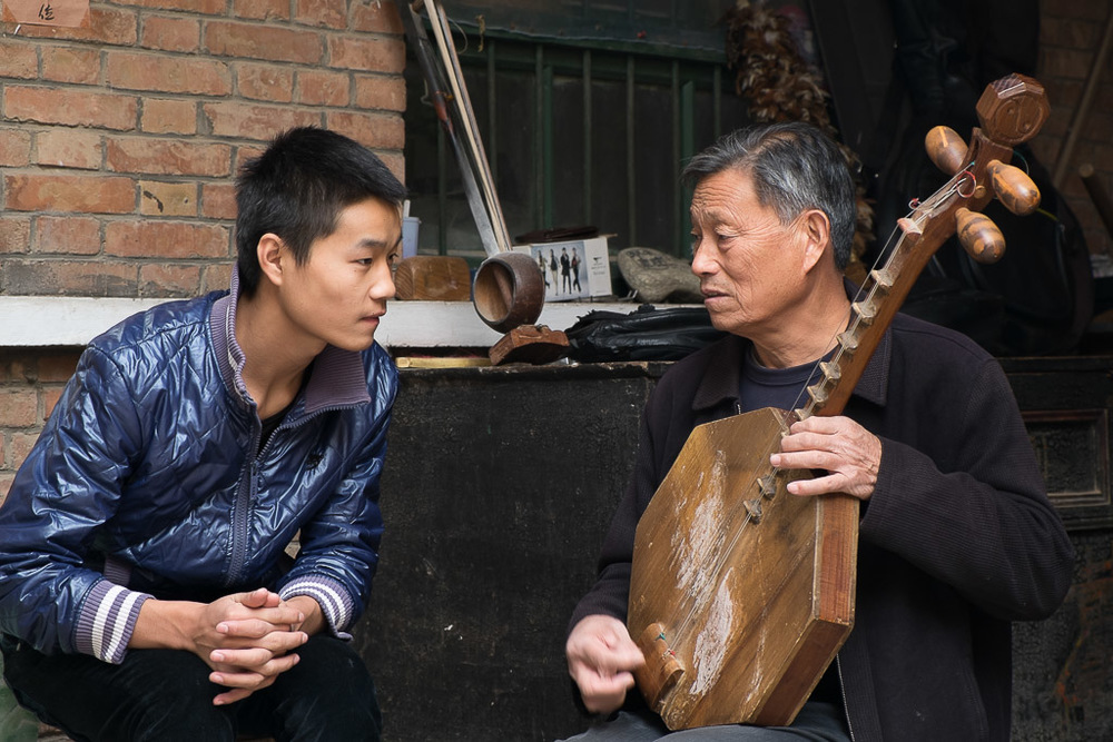 Zhang Ximin and his 18-year-old grandson Zhang Meng