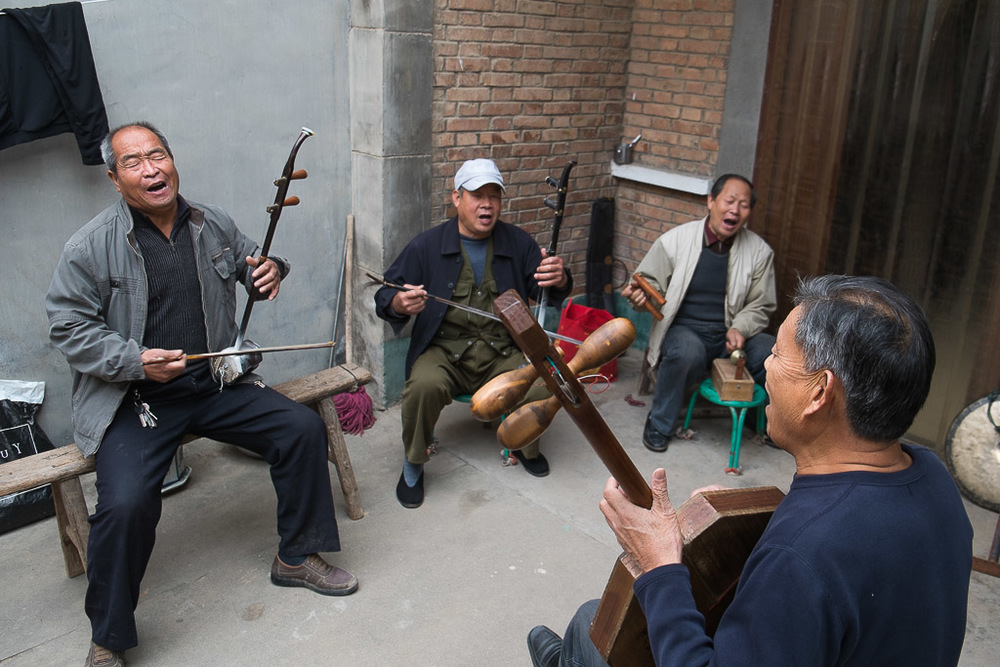 Jam session at Zhang Ximin's house