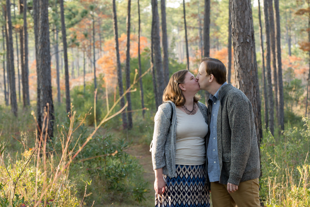 romantic natural engagement photo (Uninvented Colors Photography)