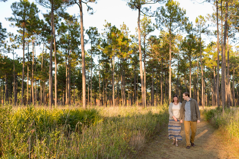 candid natural woodland engagement photo (Uninvented Colors Photography)