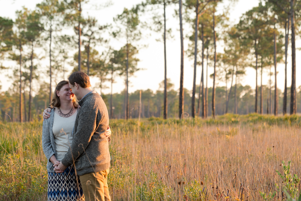 candid golden hour engagement photo (Uninvented Colors Photography)