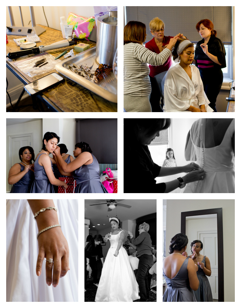 wedding preparations at White House Hotel Biloxi (Uninvented Colors Photography)
