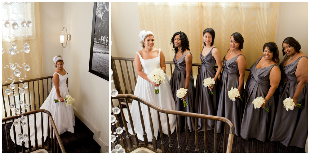 bride and bridesmaid photos at White House Hotel Biloxi (Uninvented Colors Photography)