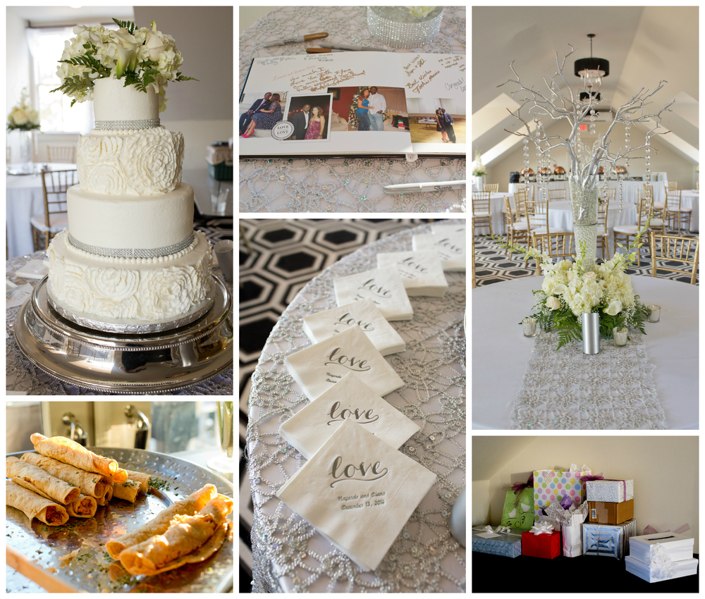 White House Hotel wedding reception cake and details (Uninvented Colors Photography)