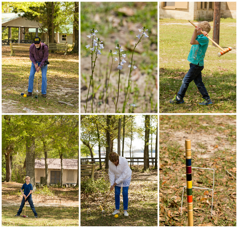 wedding guests playing croquet (Biloxi wedding photographer)