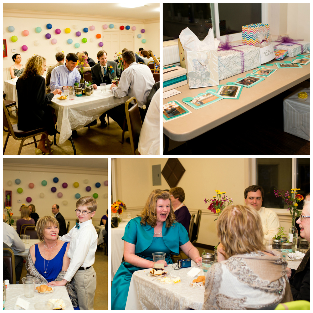 guests and gifts at wedding reception