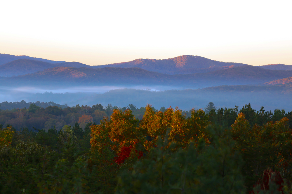 mountain view in Blue Ridge, Georgia