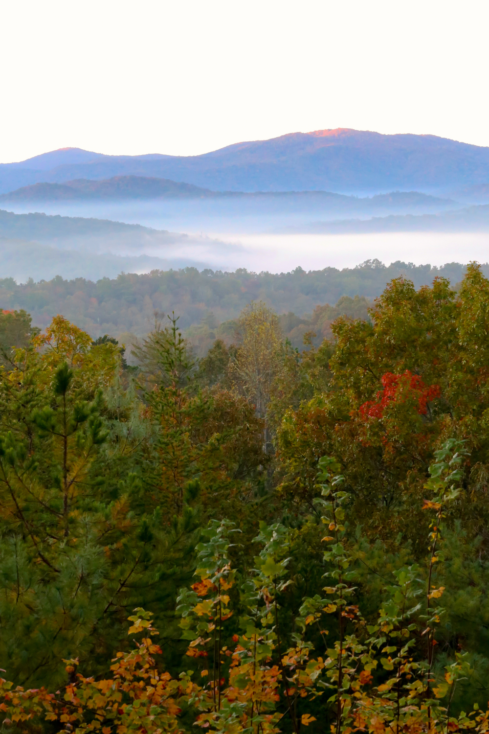 autumn mountain view in Blue Ridge, Georgia