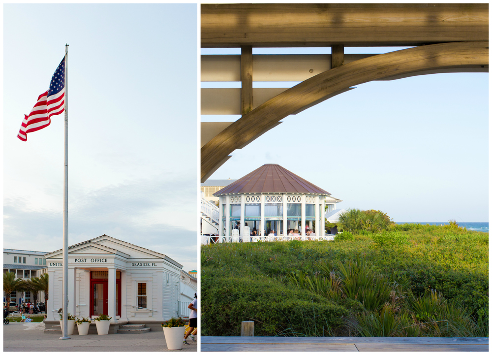 post office and beachfront restaurant in Seaside, Florida