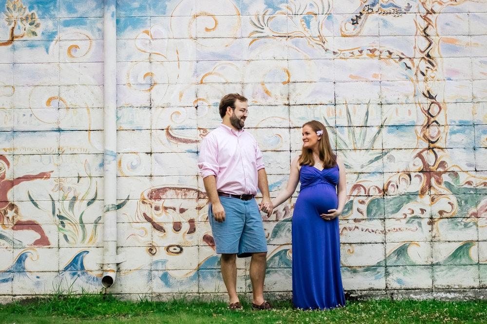 Ocean Springs, Mississippi maternity couple photo
