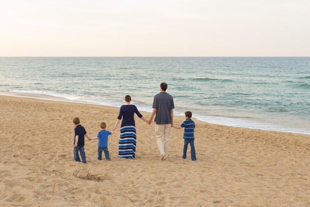 Beach family portrait at Outer Banks by Uninvented Colors Photography