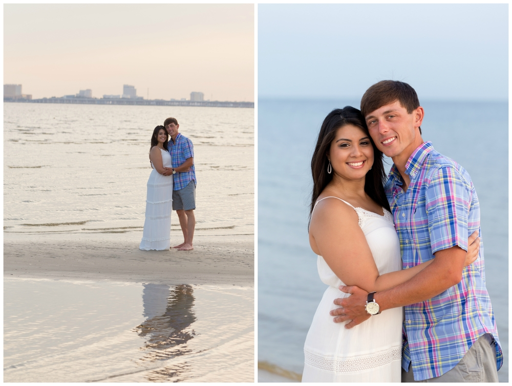 beautiful couple on Mississippi beach (engagement photos)