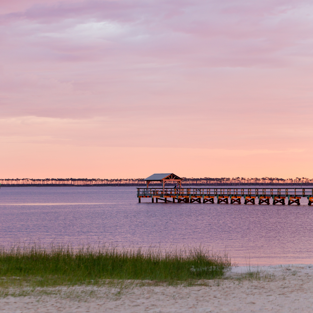 East Beach at Dusk (Ocean Springs beach sunset)