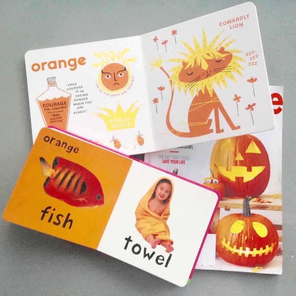orange children's books (picture books)