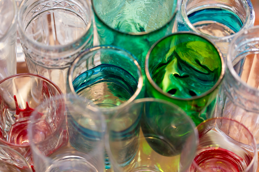 colorful abstract glass