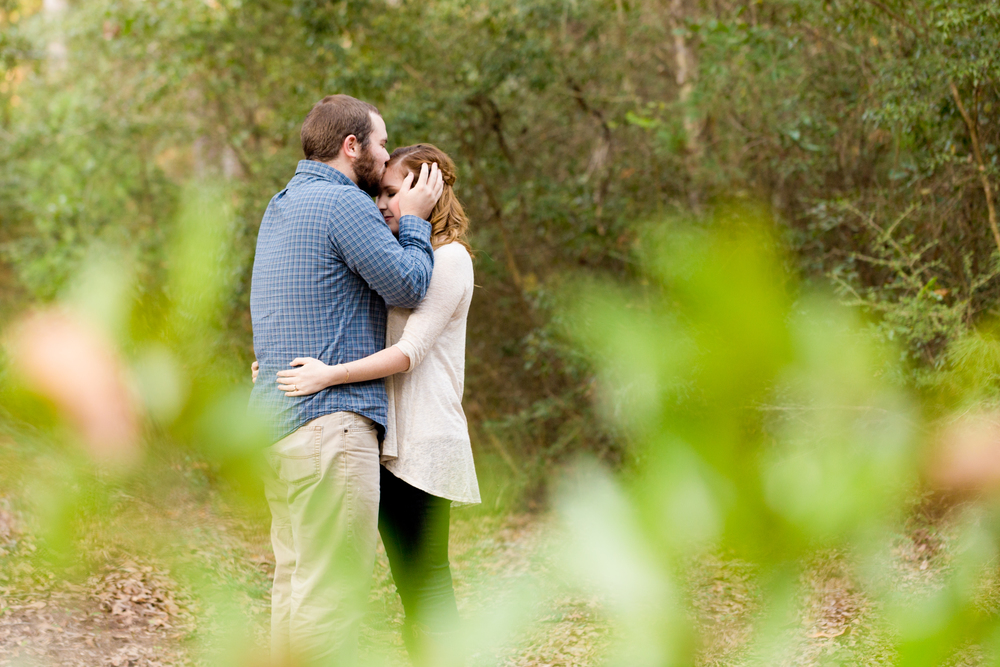 romantic engagement portrait in nature