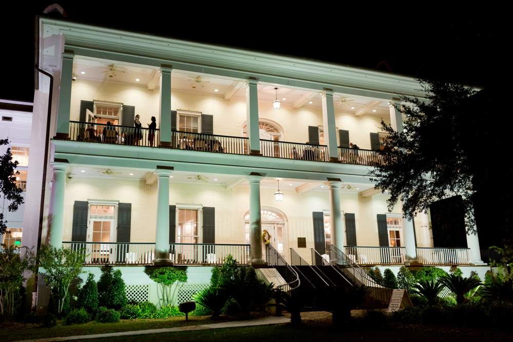 Biloxi Visitors Center at night (wedding venue)