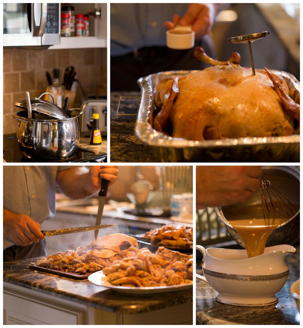 Thanksgiving dinner preparations