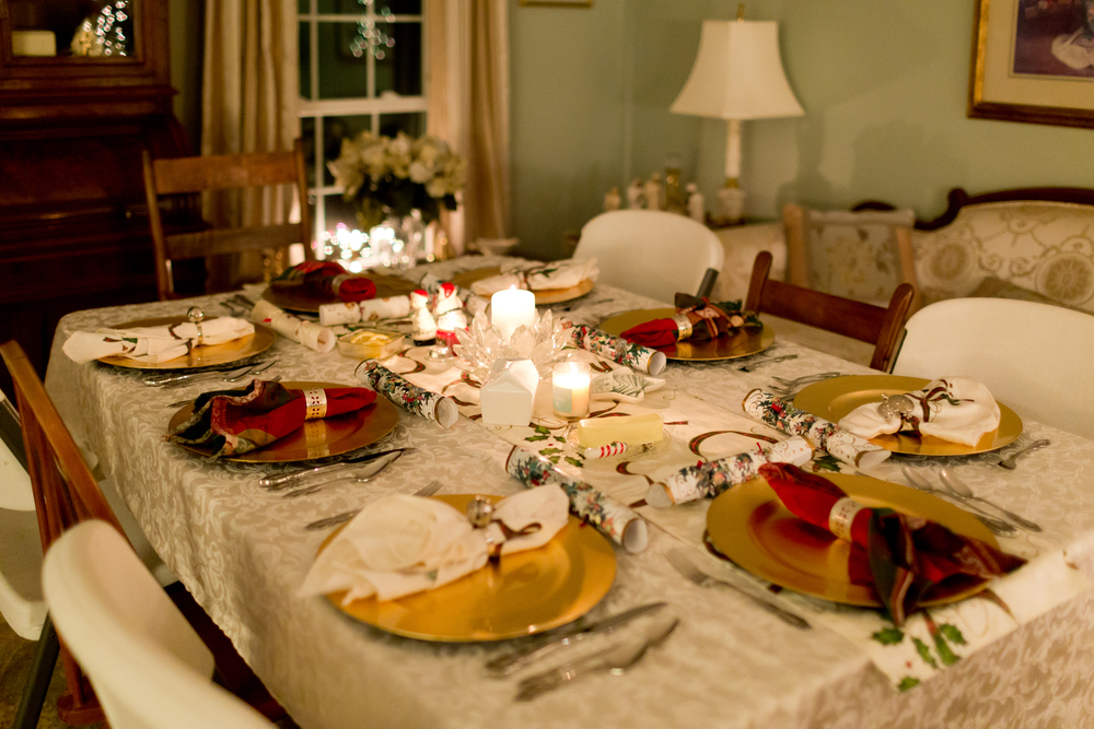 table set for Christmas dinner & Afton\u0027s First Christmas \u2014 Uninvented Colors Photography