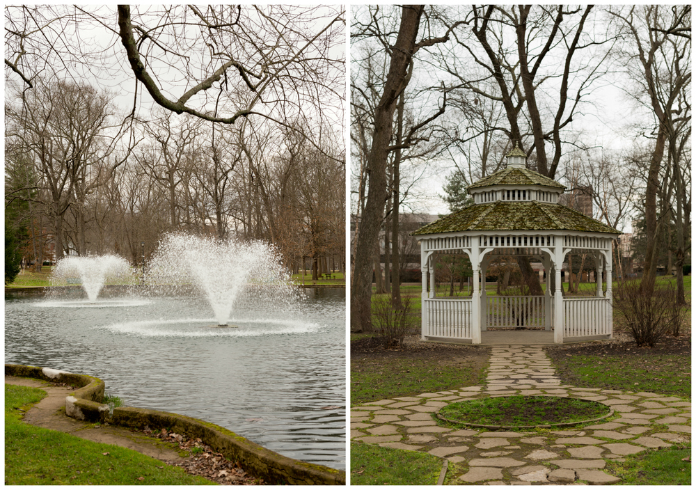 fountain and gazebo at Central Park in Ashland Kentucky