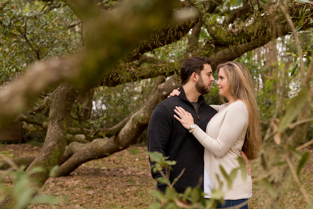stunning couple portrait with tree branches