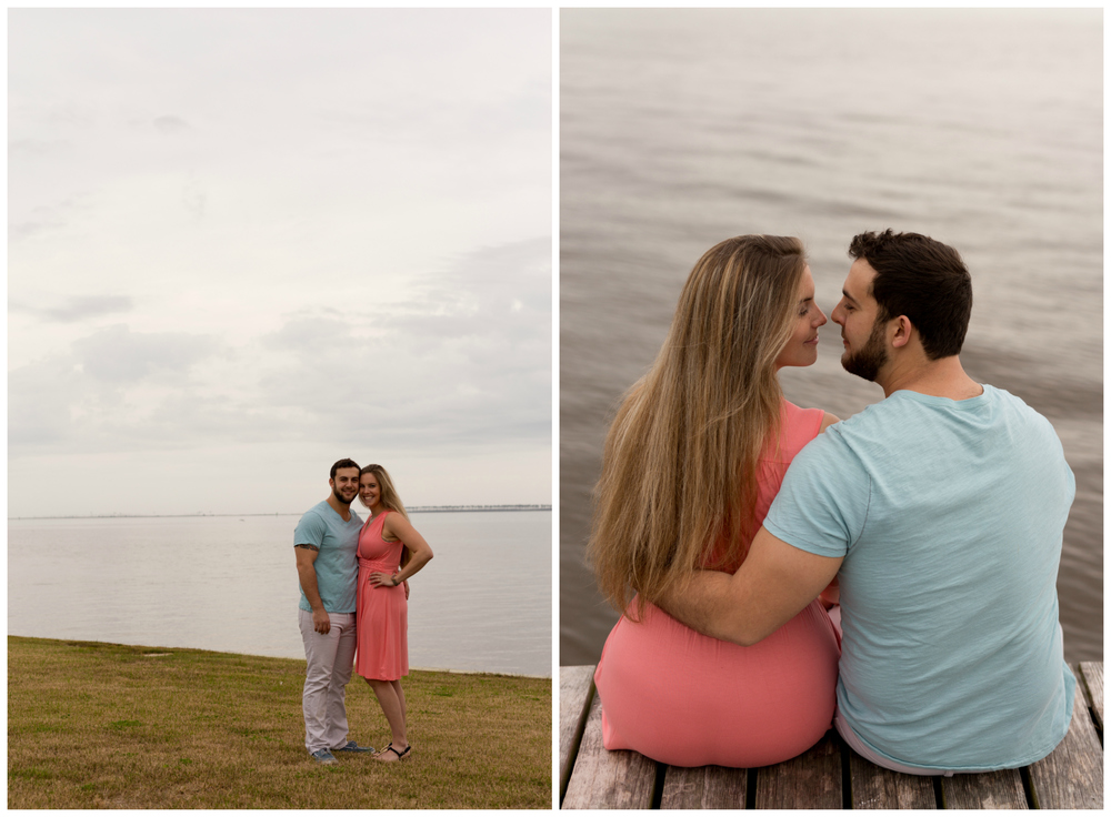 dreamy engagement photos at beach in Ocean Springs