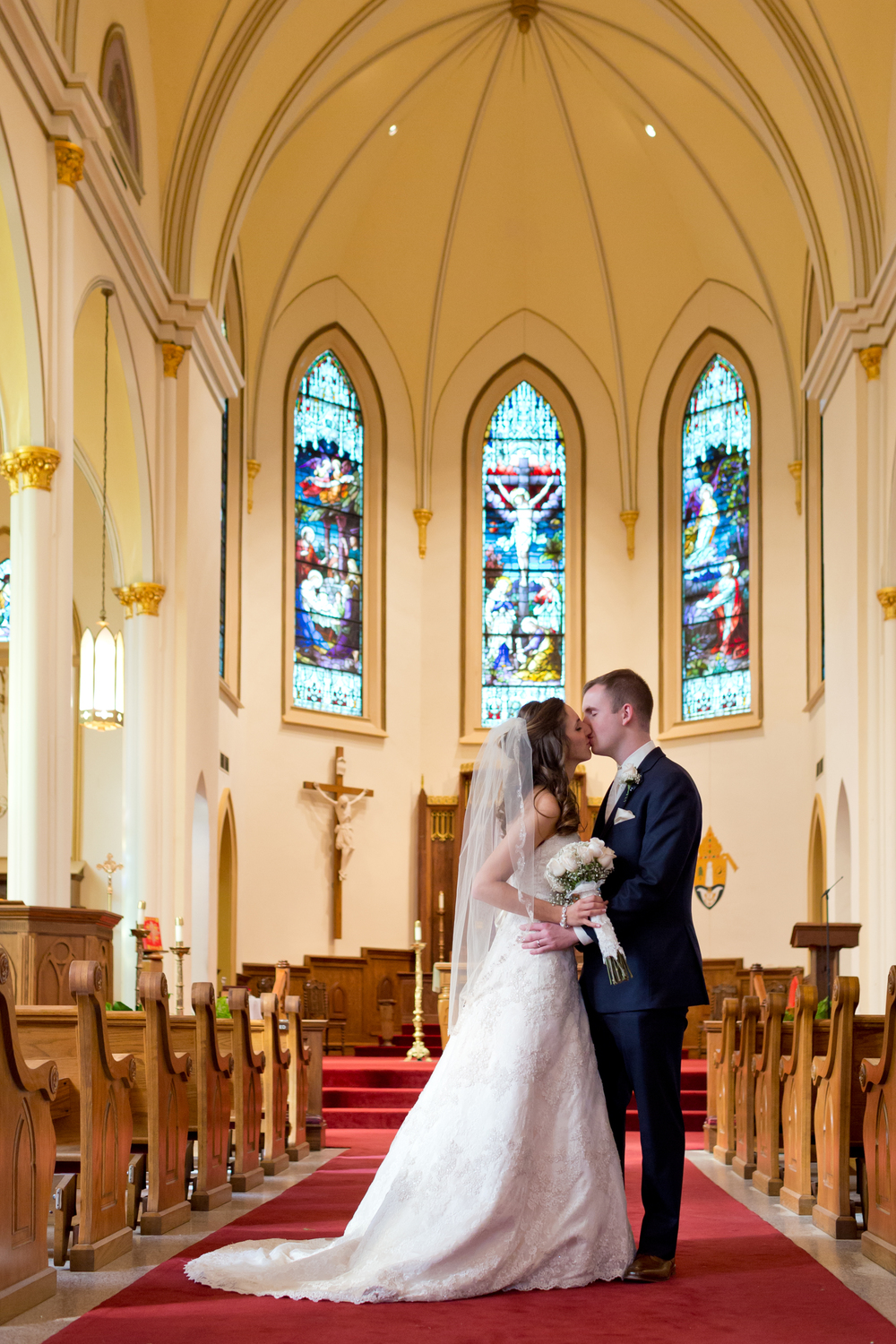 Wedding Portrait (Cathedral of the Nativity of the Blessed Virgin Mary Biloxi, Mississippi)