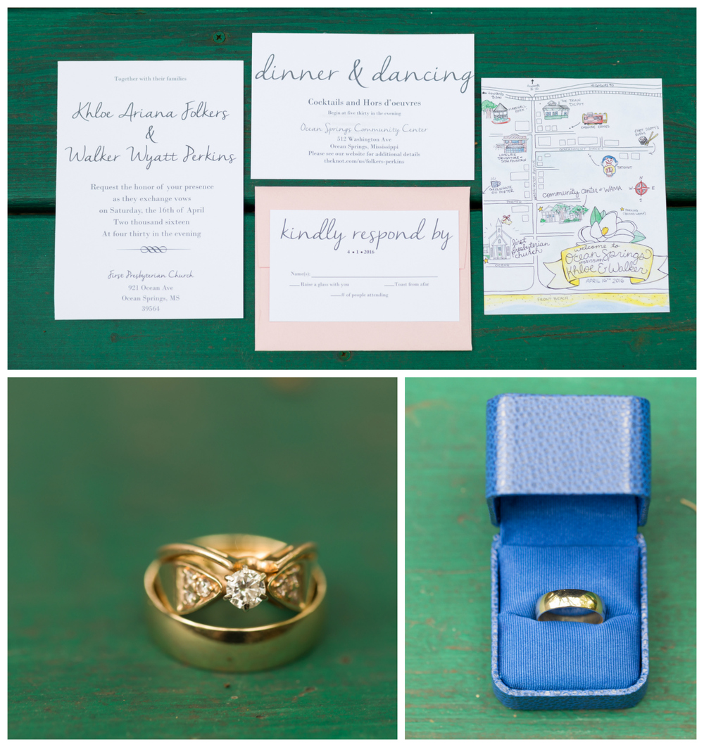 wedding invitations and rings