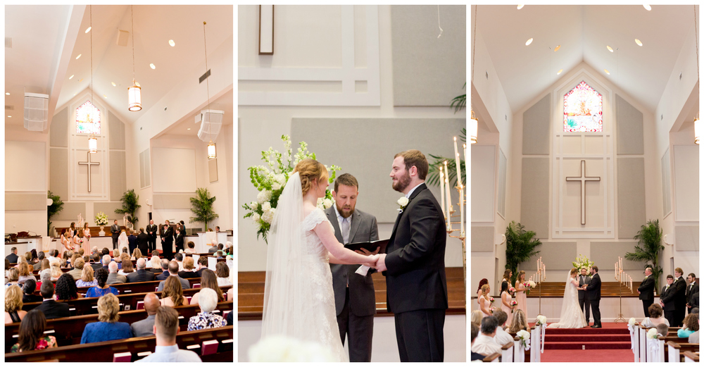 wedding ceremony at First Presbyterian Church Ocean Springs