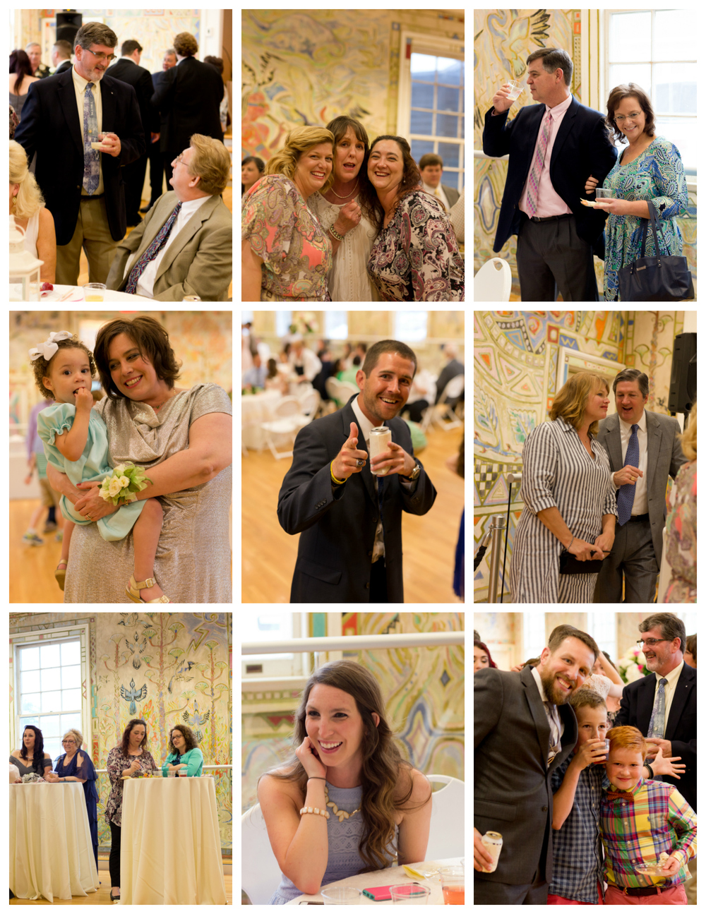 wedding reception guests at Ocean Springs Community Center