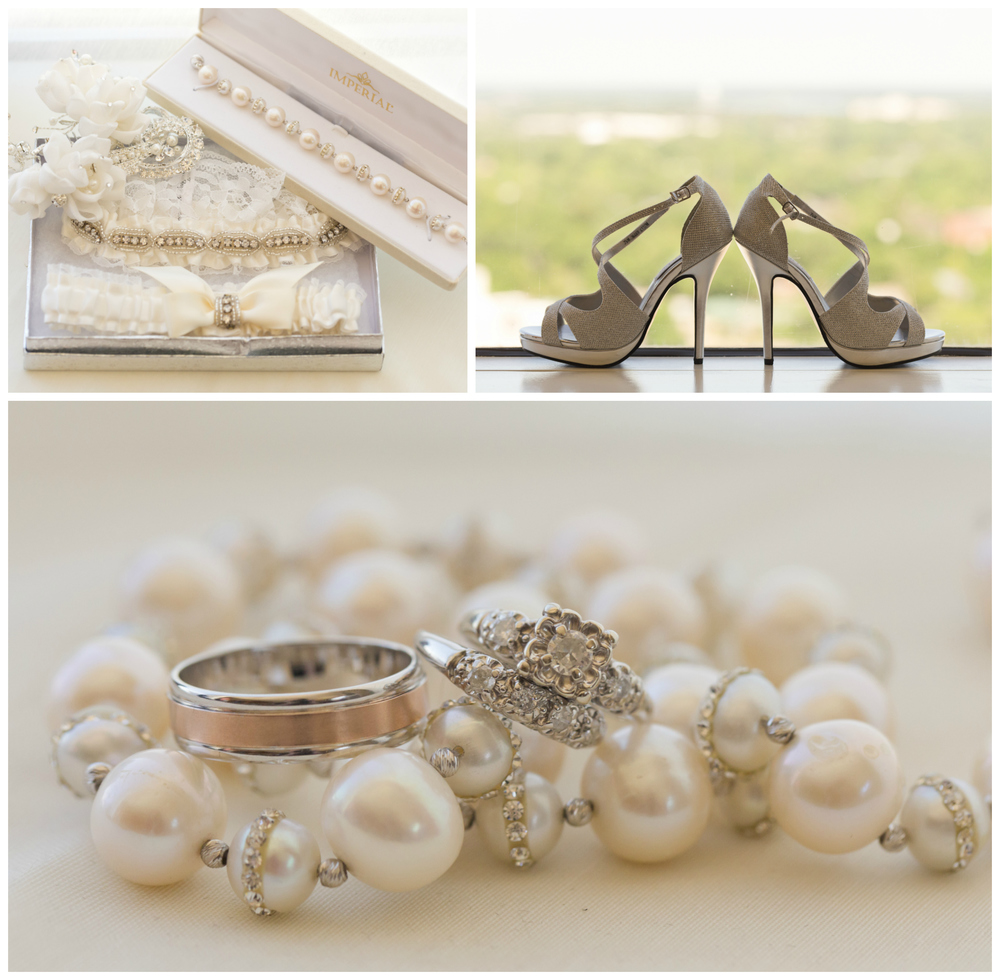 classy wedding jewelry and accessories (pearls, diamonds, high heels, garters) by Uninvented Colors Photography (Biloxi wedding photographer)