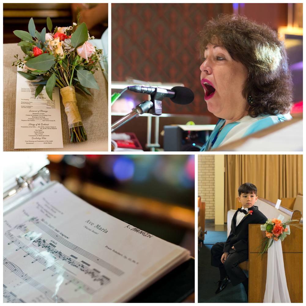 wedding music, bouquet, program, ring-bearer