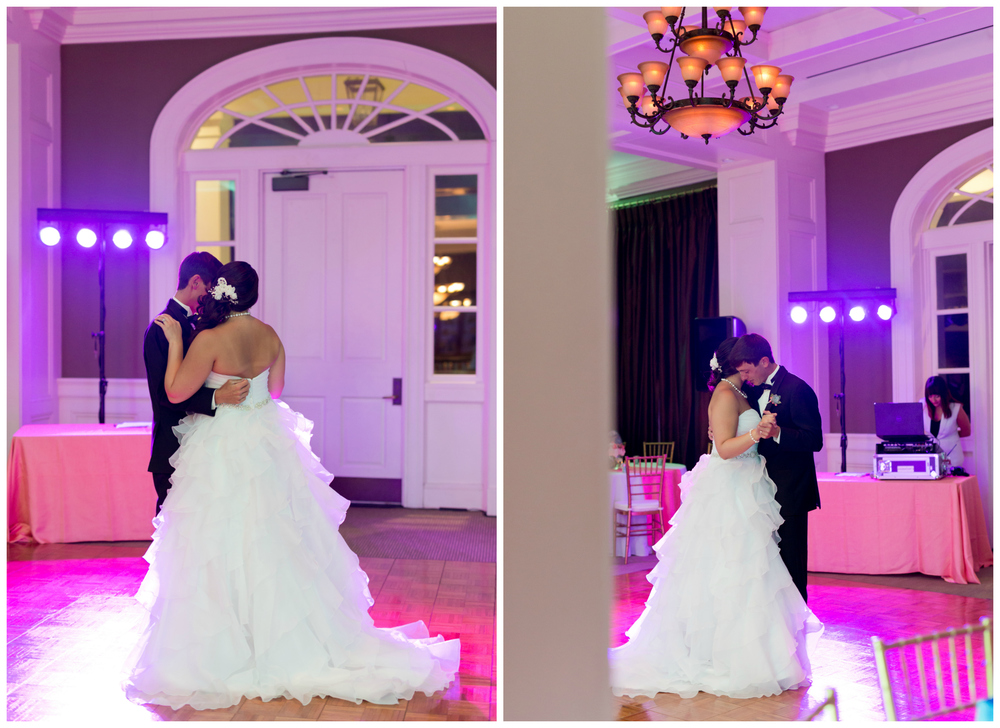 wedding first dance at Biloxi Visitors Center