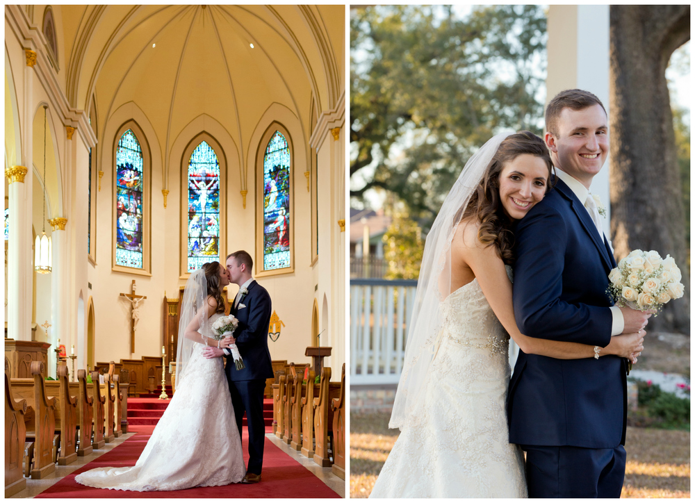Biloxi wedding photographer Uninvented Colors Photography - portraits at Nativity BVM and Lighthouse Park