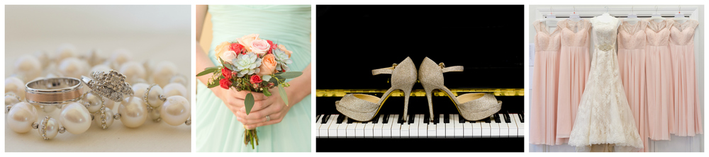 wedding detail shots - rings, shoes, bouquet, dresses (Ocean Springs and Biloxi Mississippi wedding photographer)