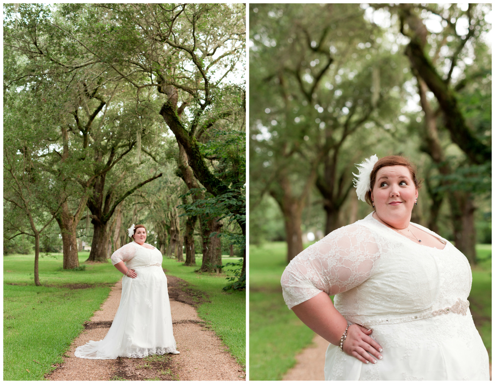 bridal portraits with live oak trees (Uninvented Colors Photograph)