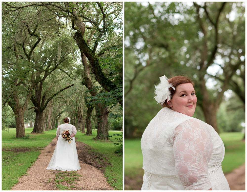 outdoor bridal portraits in Ocean Springs, Mississippi