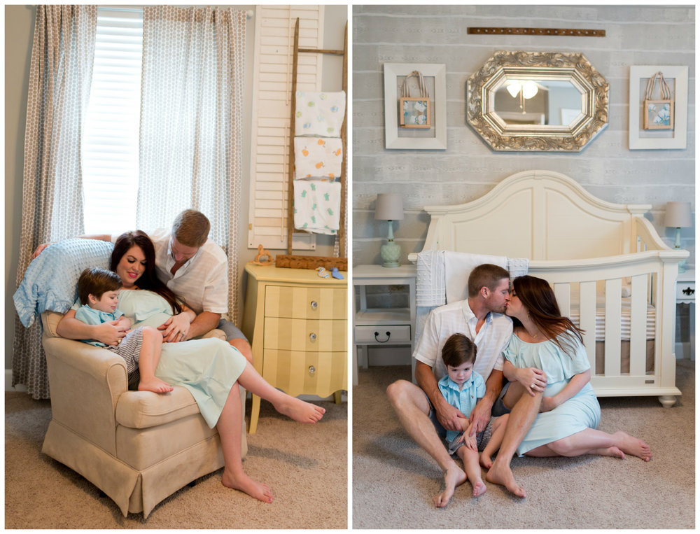 family maternity photos in nursery (Uninvented Colors Photography)