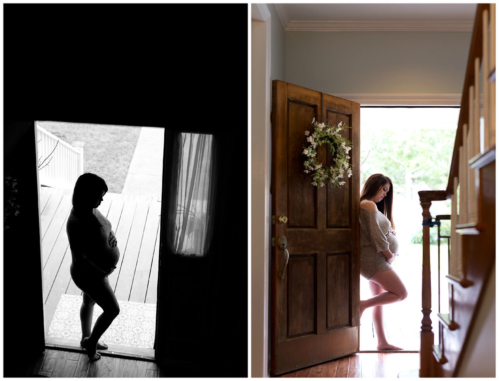 silhouette maternity photo