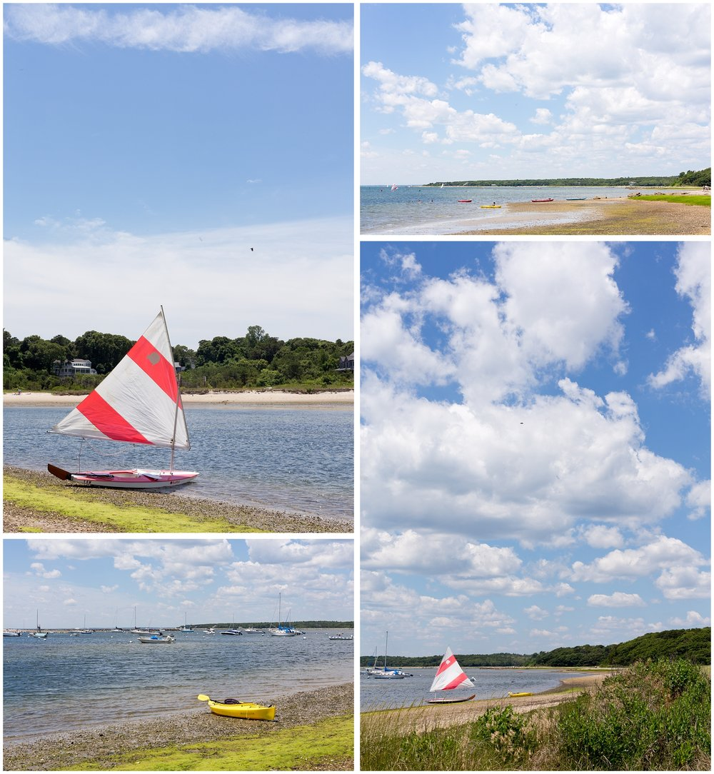 sailboats and kayaks on Cape Cod