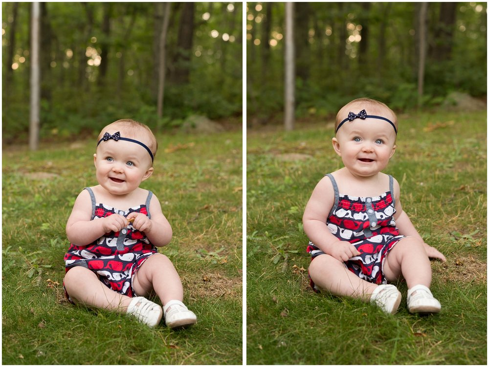 baby girl July 4th photos