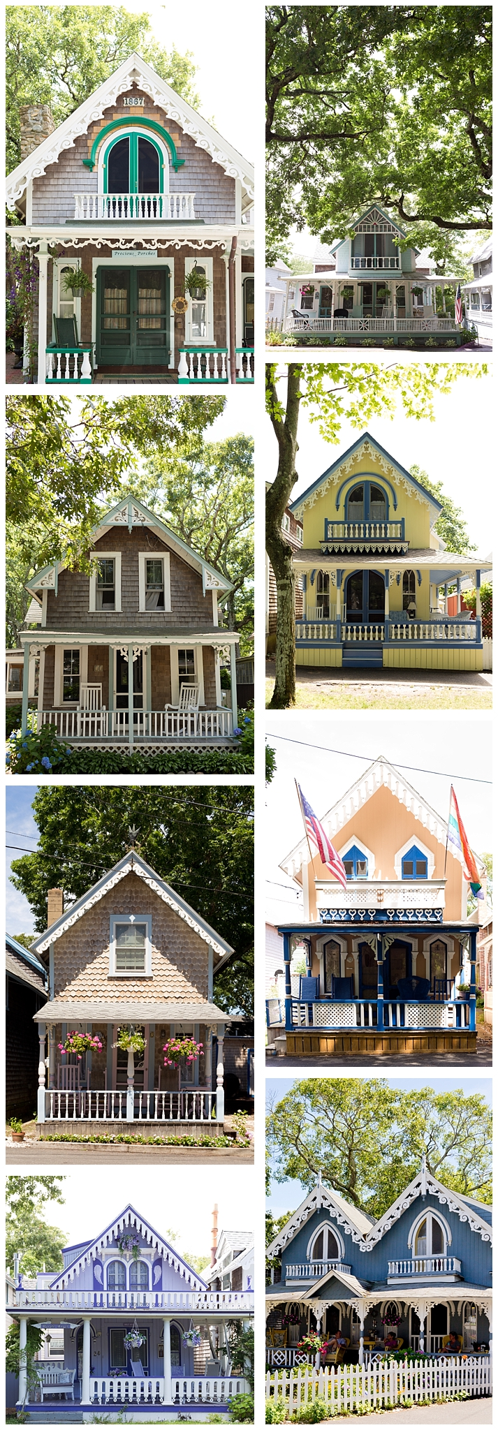 "colorful ""gingerbread"" houses on Martha's Vineyard"