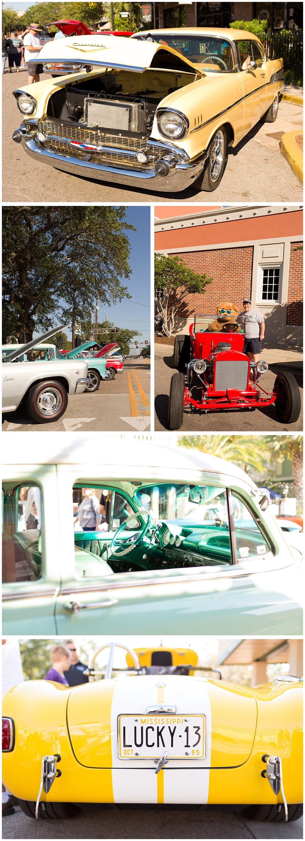 antique cars at Cruisin' the Coast 2016